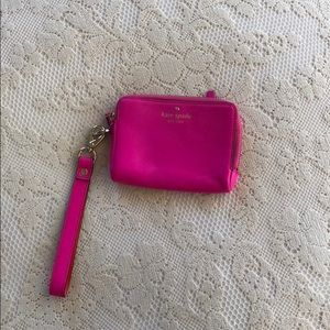 Kate Spade hot pink zip wallet